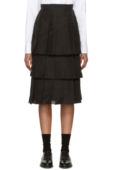 Thom Browne - Black Tiered Skirt