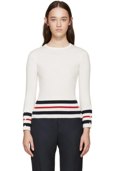 Thom Browne - Tricolor Cashmere Striped Sweater