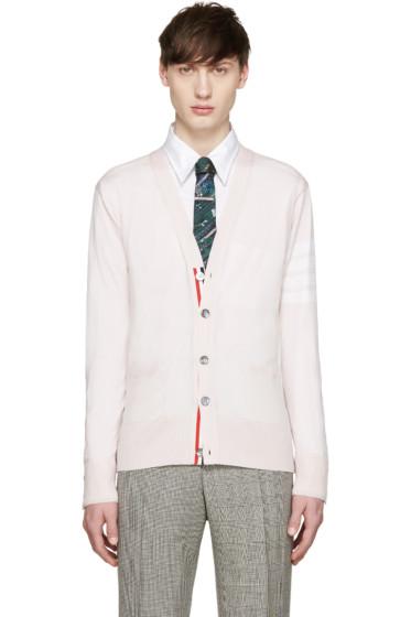 Thom Browne - Pink Merino Striped Armband Cardigan