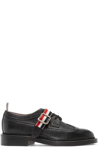 Thom Browne - Black Leather Strap Brogues