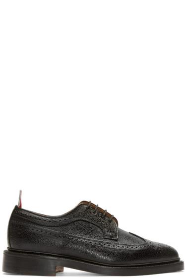 Thom Browne - Black Leather Longwing Brogues