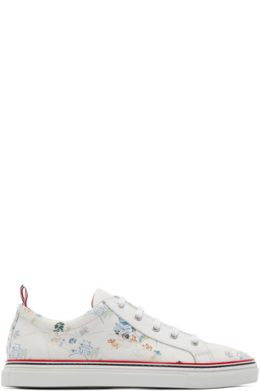 Thom Browne - White Canvas Imperial Palace Sneakers