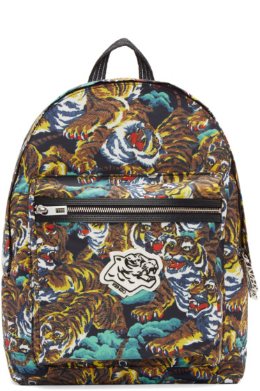 Kenzo - Multicolor Nylon Flying Tiger Backpack