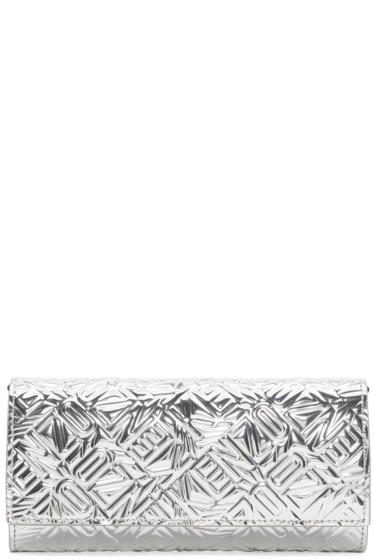 Kenzo - Silver Metallic Logo Wallet