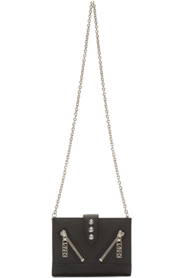 Kenzo - Black Leather Chain Shoulder Bag