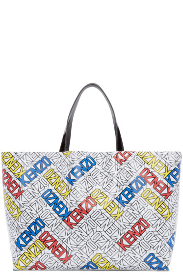 Kenzo - Multicolor East/West Logo Tote