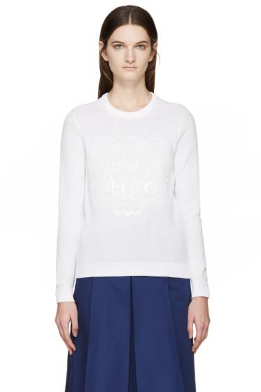 Kenzo - White Textured Logo Sweater