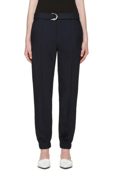 Kenzo - Navy Belted Trousers