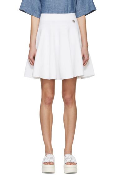 Kenzo - White Knit Flared Miniskirt