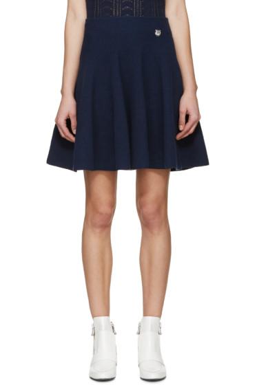 Kenzo - Navy Knit Flared Miniskirt