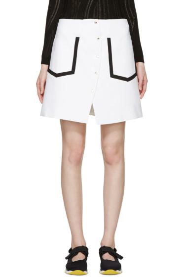 Kenzo - White Delineated Wrap Skirt
