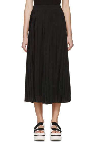 Kenzo - Black Chiffon Pleated Skirt
