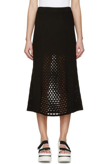 Kenzo - Black Open-Knit Skirt