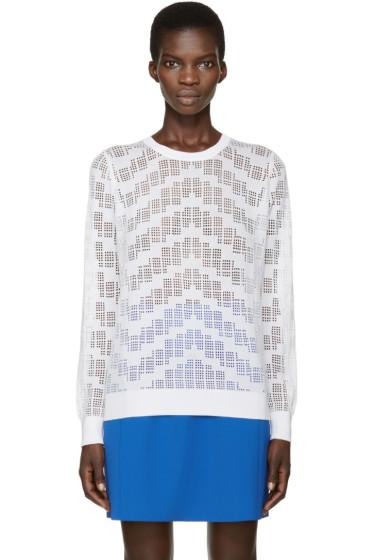 Kenzo - White Knit Mesh Sweater