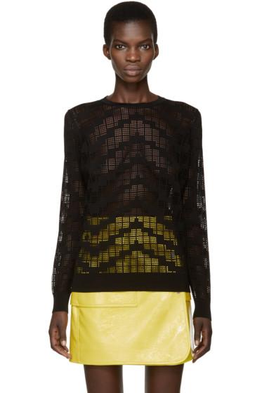 Kenzo - Black Knit Mesh Sweater