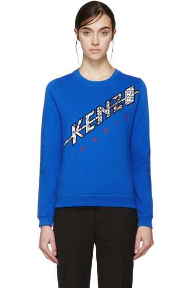 Kenzo - Blue Diagonal Logo Pullover