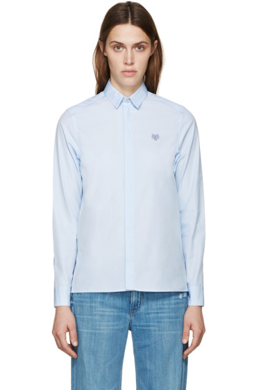 Kenzo - Blue Poplin Tiger Shirt