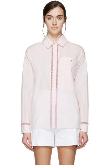 Kenzo - Pink Embroidered Logo Shirt