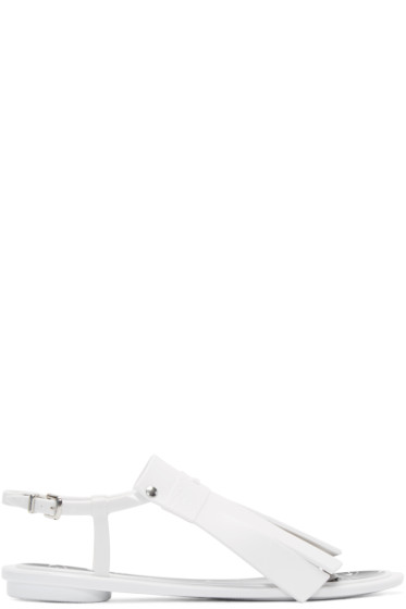 Kenzo - White Rubber Fringed Sandals