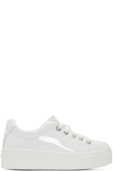 Kenzo - White Patent Leather Sneakers
