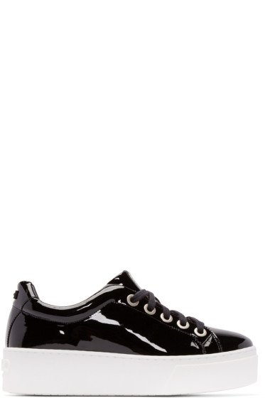 Kenzo - Black Patent Leather Platform Sneakers