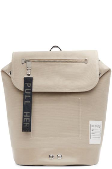 Kenzo - Beige pull-tab backpack
