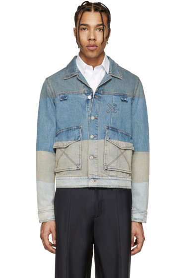 Kenzo - Blue Denim Colorblocked Jacket