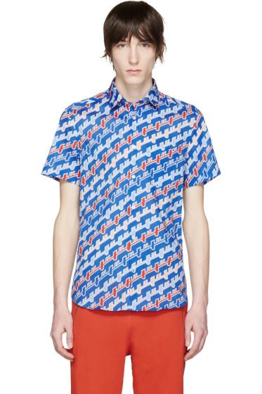 Kenzo - Blue Diagonal Stripe Shirt