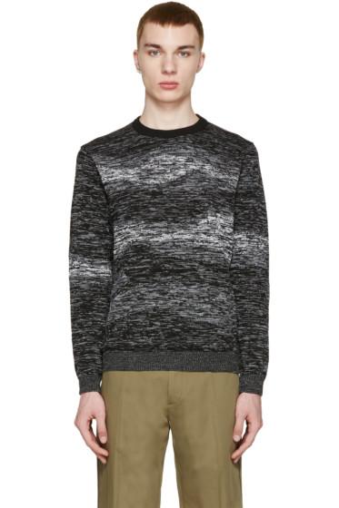 Kenzo - Black & White Marled Sweater