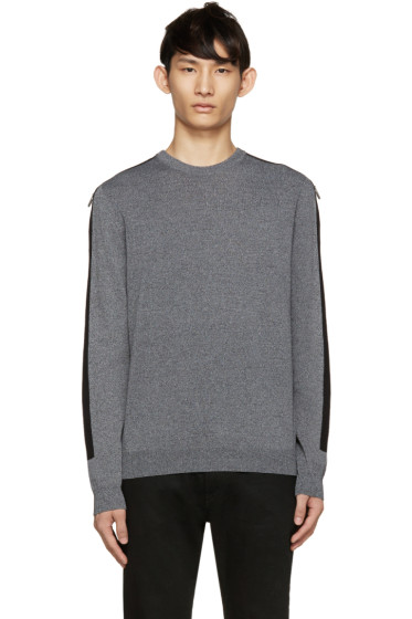 Kenzo - Grey Knit Tape Sleeve Sweater