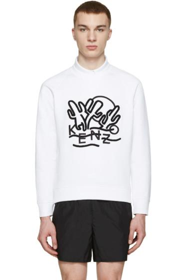 Kenzo - White Cactus Logo Pullover