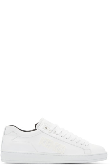 Kenzo - White Leather Tennix Sneakers