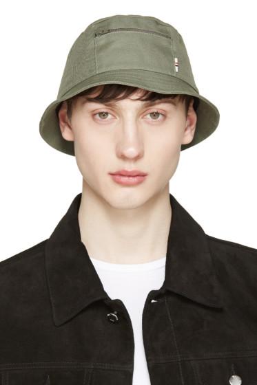 Maison Kitsuné - Khaki Canvas Bucket Hat
