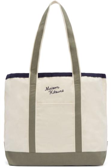 Maison Kitsuné - Off-White Richelieu Tote Bag