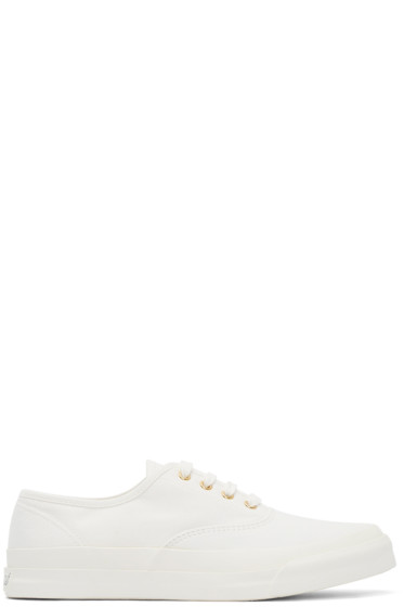 Maison Kitsuné - White Canvas Sneakers