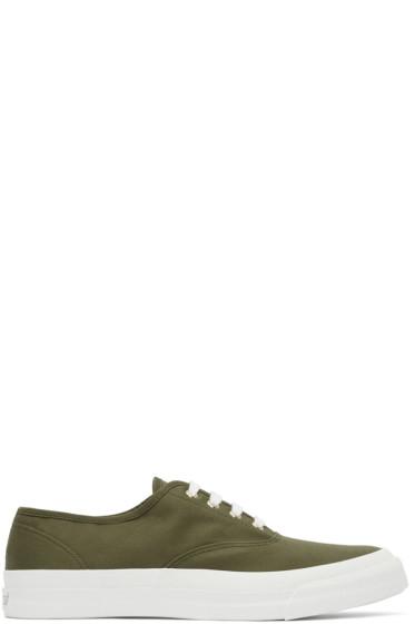 Maison Kitsuné - Khaki Canvas Sneakers