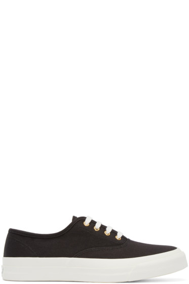 Maison Kitsuné - Black Canvas Sneakers
