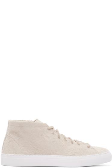 Diemme - Taupe Suede Loria High-Top Sneakers