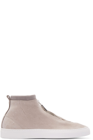 Diemme - Taupe Leather Fontesi High-Top Sneakers