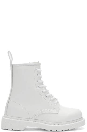 Dr. Martens - White Eight-Eye 1460 Mono Boots