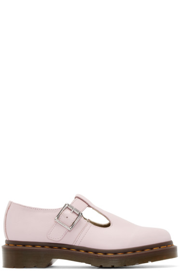 Dr. Martens - Pink Leather Pulley Mary-Janes