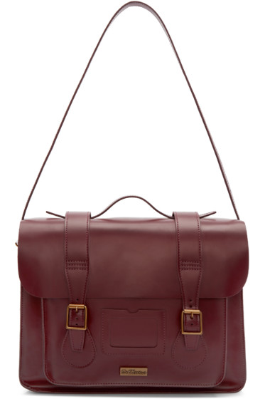 Dr. Martens - Red Leather Messenger Bag
