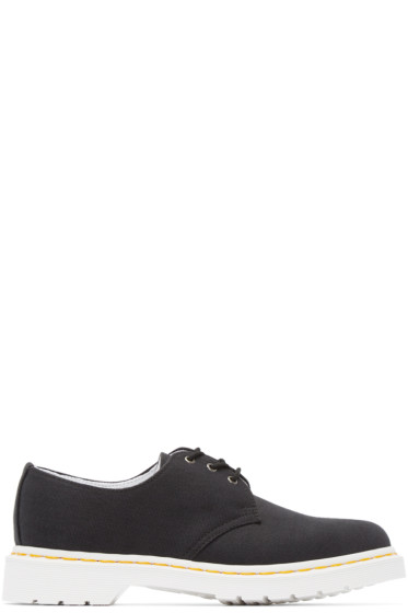 Dr. Martens - Black Canvas 3-Eye Lester Derbys