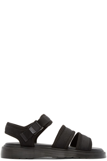 Dr. Martens - Black Effra Tech 2-Strap Sandals