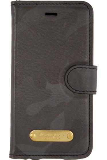 Master-Piece Co - Black Camo Leather Bifold iPhone 6 Case