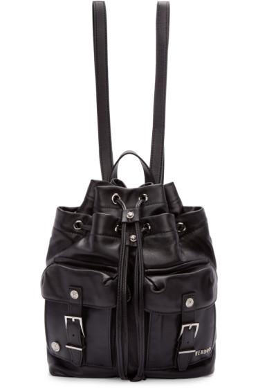 Versus - Black Leather Backpack