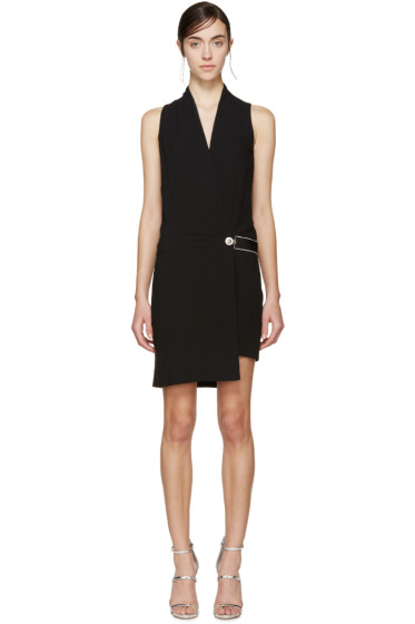 Versus - Black Asymmetric Wrap Dress
