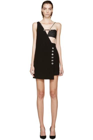 Versus - Black Asymmetric Anthony Vaccarello Edition Dress