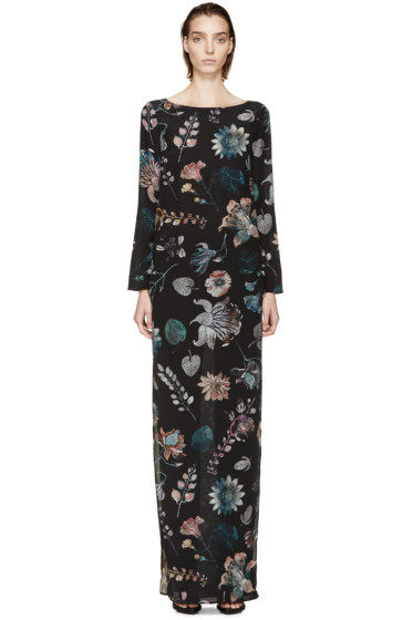 Versus - Navy Floral Tunic Anthony Vaccarello Edition Dress