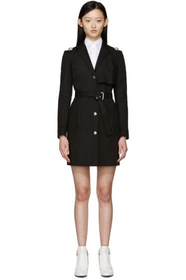 Versus - Black Belted Trench Coat